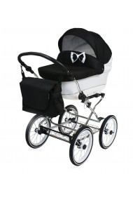Classic pram Candy Black 3 in 1 travel system