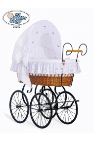 Wicker Crib Retro - White