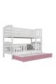 Bunk bed Jacob 3 for 3 persons with roll-out bed 190x80 cm